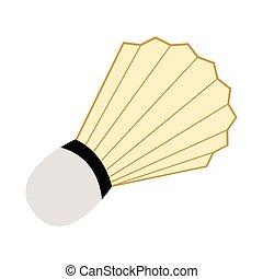 Isolated badminton shuttlecock icon. Vector illustration...