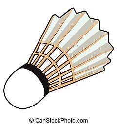 Isolated badminton shuttlecock