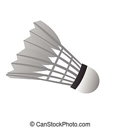 Isolated badminton shuttlecock