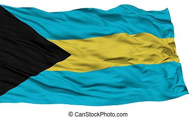 Isolated Bahamas Flag