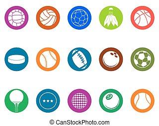 ball button icons set