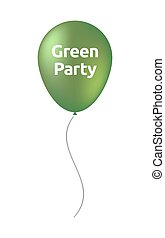 Isolated balloon with the text Green Party