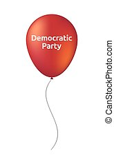Isolated balloon with  the text Democratic  Party