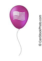 Isolated balloon with  the Unites States of America waving flag
