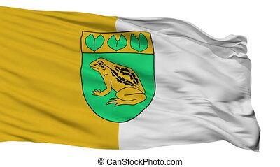 Isolated Balozi city flag, Latvia - Balozi flag, city of...