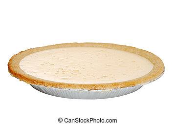 Isolated banana cream pie