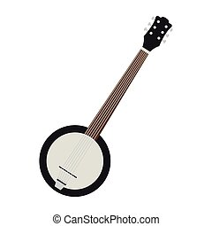 Isolated banjo icon. Musical instrument