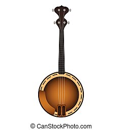 Isolated banjo. Musical instrument