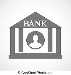 Isolated bank icon with a male avatar - Illustration of an...