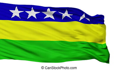 Isolated Banos city flag, Ecuador - Banos flag, city of...