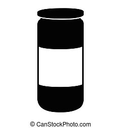 Isolated barbecue sauce bottle icon on a white background