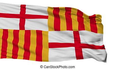 Isolated Barcelona city flag, Spain - Barcelona flag, city...