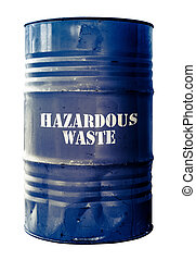 Isolated Barrel Of Hazardous Waste - Grungy Isolated Drum Or...