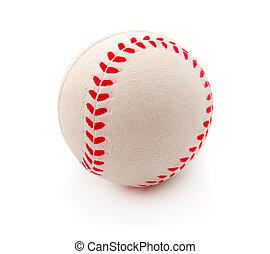 Isolated baseball on a white background