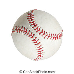 Isolated baseball on a white background
