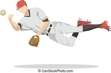 Isolated baseball player.