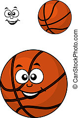 Isolated basketball ball with a happy face
