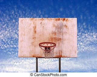 Isolated Basketball Hoop