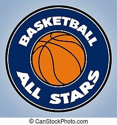 Isolated basketball logo