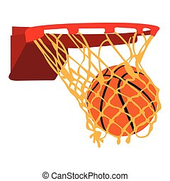 Isolated basketball net
