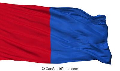 Isolated Bastogne city flag, Belgium - Bastogne flag, city...
