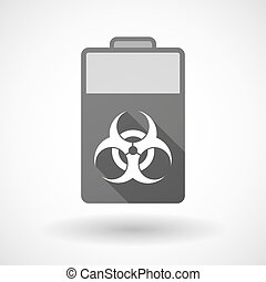 Isolated battery icon with a biohazard sign