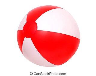 Isolated beach ball