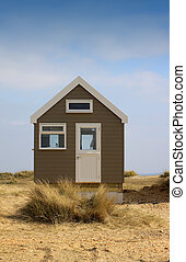 Isolated Beach Hut