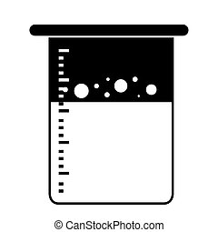 Isolated beaker icon on a white background