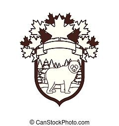 Isolated bear animal design vector illustration