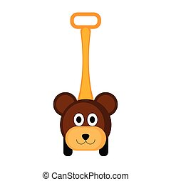 Isolated bear toy icon