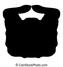 Isolated beard silhouette