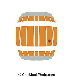 Isolated beer barrel on a white background, Vector...