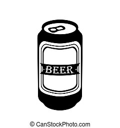 isolated beer can silhouette isolated silhouette of a beer rh canstockphoto com beer can label vector beer can label vector