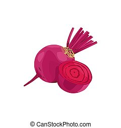 Isolated Beetroot vector design on White Background