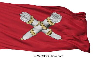 Isolated Belebey city flag, Russia - Belebey flag, city of...
