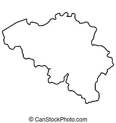 Isolated Belgian map
