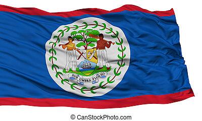 Isolated Belize Flag
