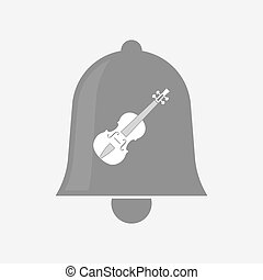 Isolated bell with a violin