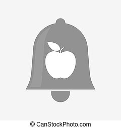 Isolated bell with an apple