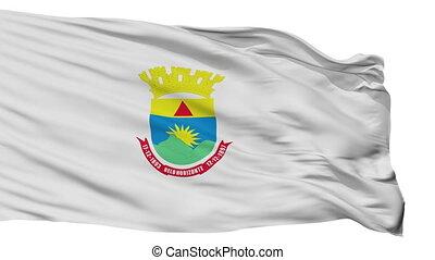 Isolated Belo Horizonte city flag, Brasil - Belo Horizonte...