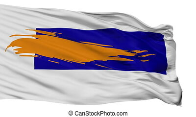 Isolated Bergen city flag, Netherlands - Bergen flag, city...