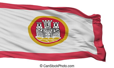 Isolated Bergen city flag, Norway - Bergen flag, city of...