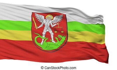 Isolated Biala Podlaska city flag, Poland - Biala Podlaska...