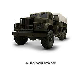 isolated big car front view 01