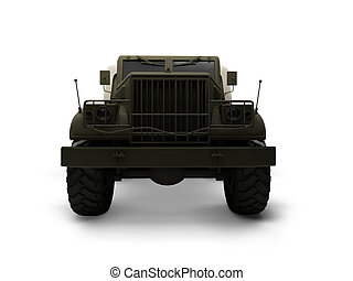 isolated big car front view 02