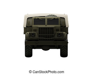 isolated big car front view 06