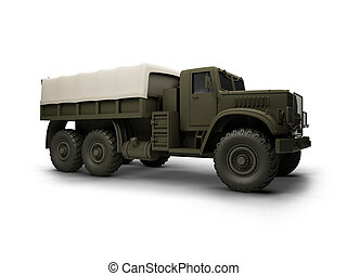 isolated big car front view