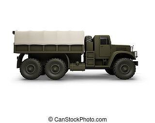 isolated big car side view