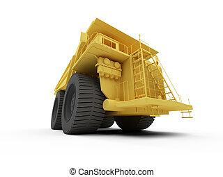 Isolated big dump truck